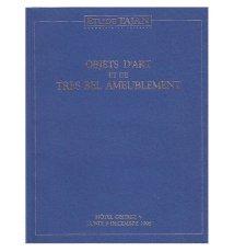 Katalog aukcyjny - Objets d' Art et de tres bel Ameublement