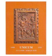 Dom Aukcyjny UNICUM. 92 Aukcja malarstwa i rzemiosła 1998