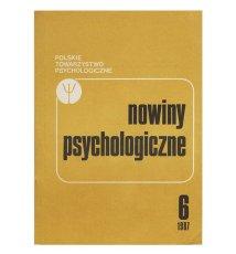 Nowiny psychologiczne 6 (53) 1987