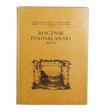 Rocznik podhalański, t.III