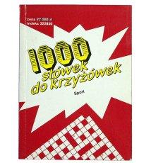 1000 słówek do krzyżówek. Sport