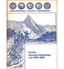 Kronika dawnego Zakopanego z lat 1848-1890