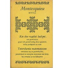 Montesquieu - Myśli