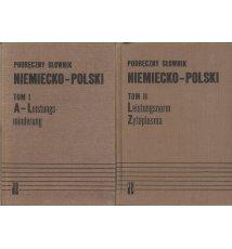 Podręczny słownik niemiecko-polski. Tom I-II