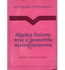 Algebra liniowa wraz z geometrią wielowymiarową