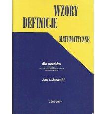 Wzory, definicje matematyczne